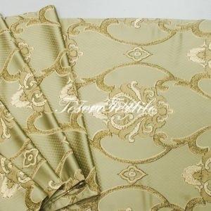 Ткань для штор Атлас JARDIN цвет хаки