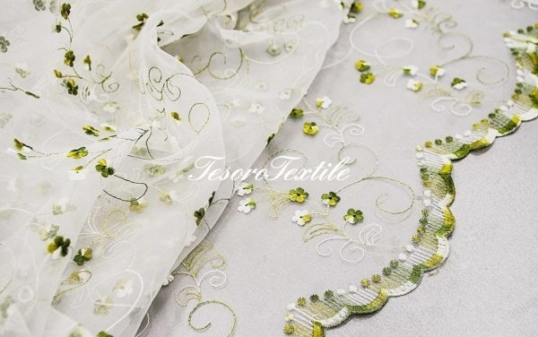Ткань для штор Органза CASA DEL VELO цвет хаки