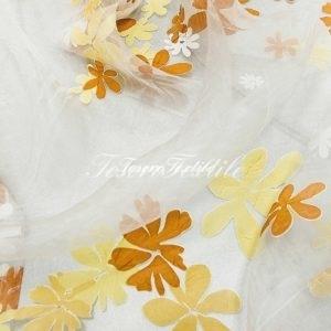 Ткань для штор Органза CASA DEL VELO цвет коричневый