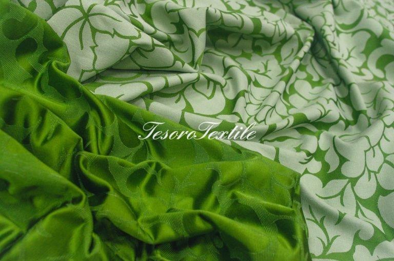 Портьерная ткань ILLUSTRE цвет зеленый