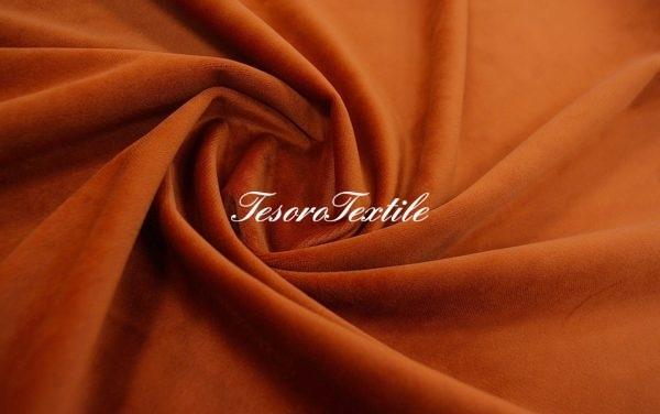 Ткань для штор Бархат VELOURS цвет красный кирпич