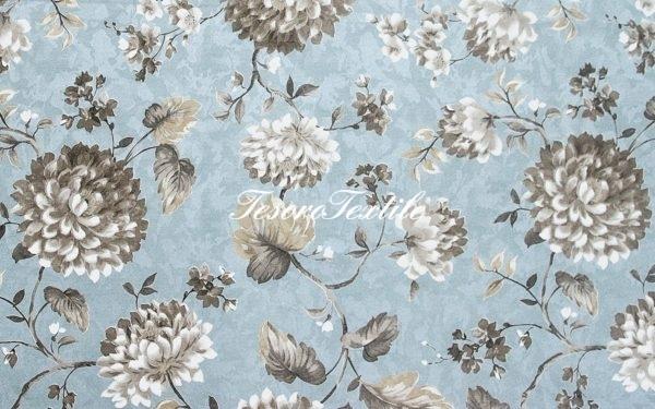 Портьерная ткань CASA DEL VELO цвет голубой