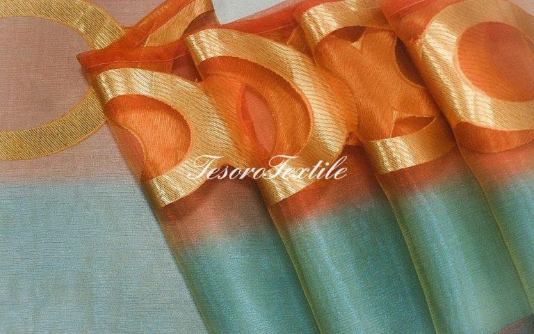 Ткань для штор Органза CASA DEL VELO цвет мультиколор оранжевый