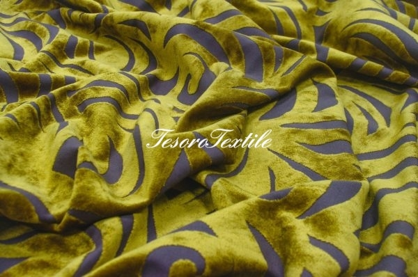 Ткань для штор Пан-бархат ILLUSTRE цвет горчичный