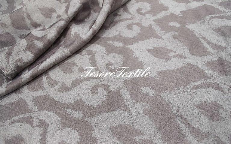 Ткань для штор Органза lEAF & FLOWER цвет пепельный