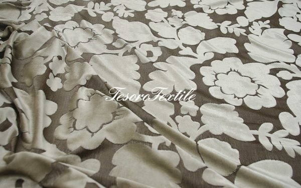 Ткань для штор Пан-бархат SCANDINA цвет серый