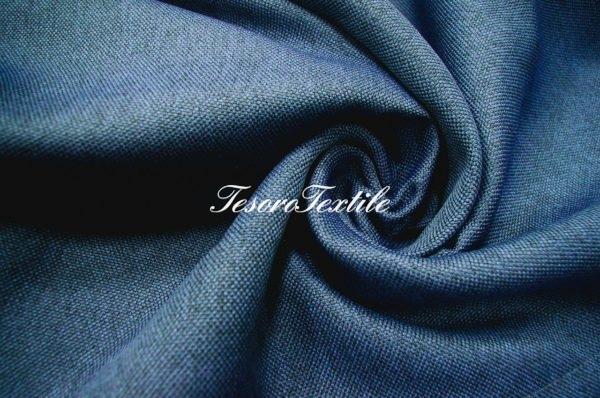 Ткань для штор Блэкаут РОГОЖКА ASTON цвет синий
