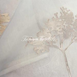 Ткань для штор Органза CASA DEL VELO цвет бежево-золотой