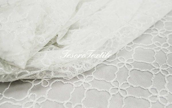 Ткань для штор Вуаль CASA DEL VELO цвет белый с серебром
