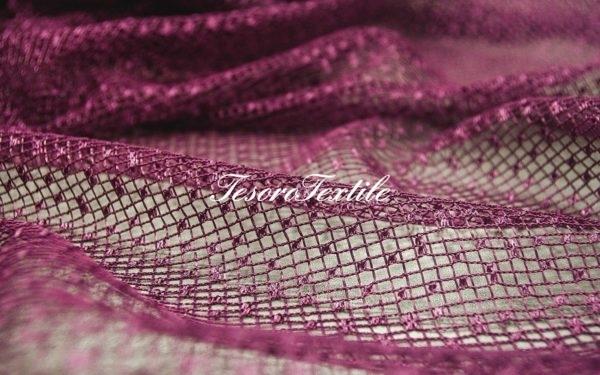 Ткань для штор Вуаль CASA DEL VELO цвет баклажановый