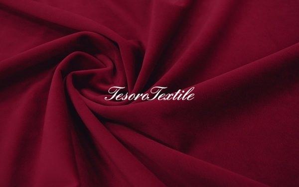 Ткань для штор Бархат VELOURS цвет винно-бордовый