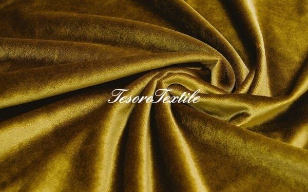 Ткань для штор Бархат SCANDINA цвет желтый