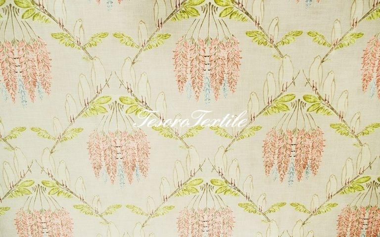 Портьерная ткань GELIN GARDEN цвет оливковый