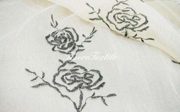 Ткань для штор Органза CASA DEL VELO цвет черный
