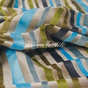 Ткань для штор Пан-бархат ILLUSTRE цвет бирюзовые