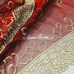 Ткань для штор Вуаль CASA DEL VELO цвет бордовый