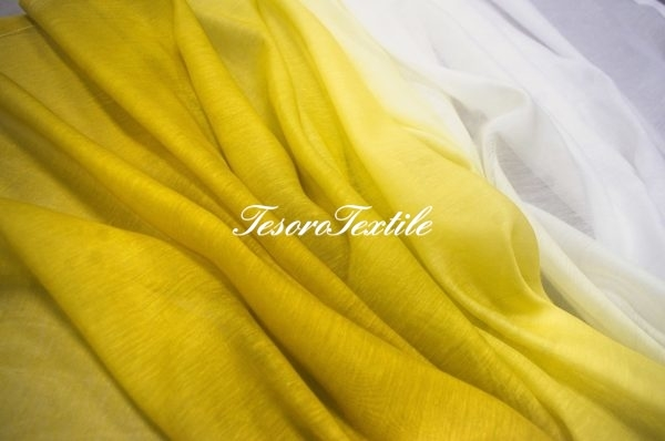 Ткань для штор Вуаль GELIN GARDEN цвет 1S-лимонный