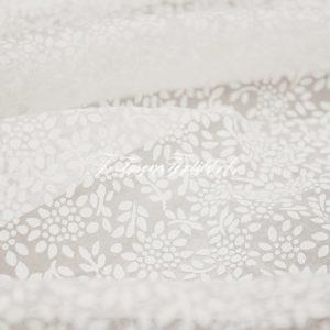Ткань для штор Вуаль FIORI цвет молочный