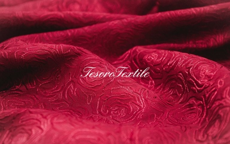 Портьерная ткань CASA DEL VELO цвет бордовый