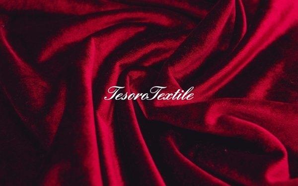 Ткань для штор Бархат SCANDINA цвет бордовый