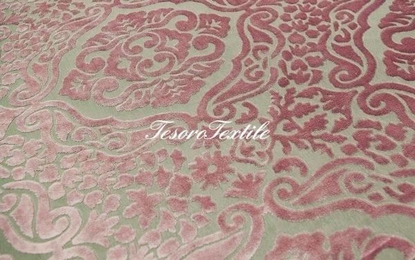 Ткань для штор Пан-бархат SCANDINA цвет розовый
