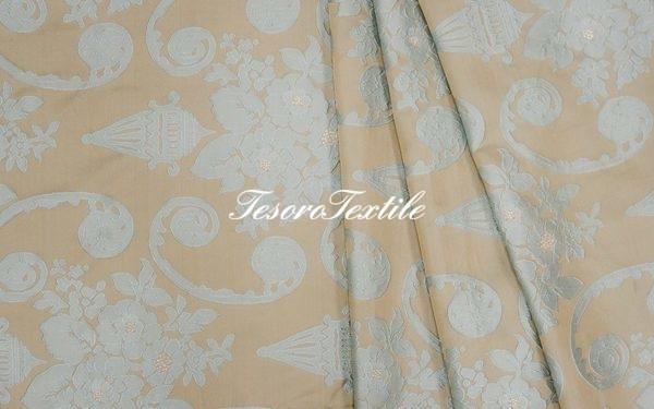 Ткань для штор Жаккард FIORI цвет светло-синий
