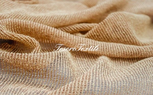 Ткань для штор Вуаль CASA DEL VELO цвет охра