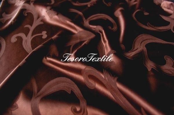 Портьерная ткань Жаккард CASA DEL VELO цвет шоколадный