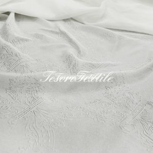 Ткань для штор Органза lEAF & FLOWER цвет молочный