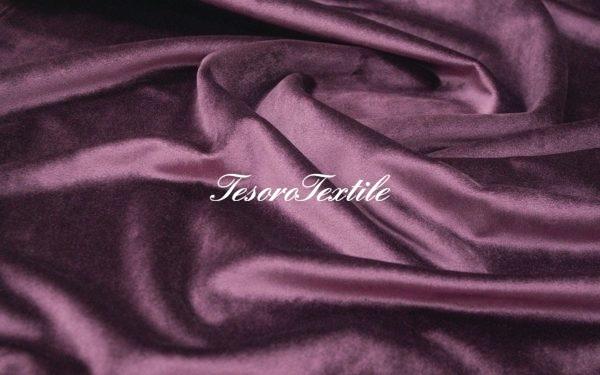 Ткань для штор Бархат SCANDINA цвет фиолетовый