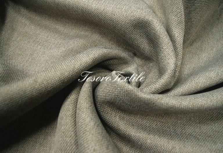 Ткань для штор Блэкаут РОГОЖКА ASTON цвет серый