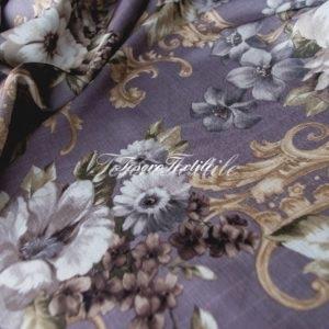 Портьерная ткань CASA DEL VELO цвет серо-сиреневый