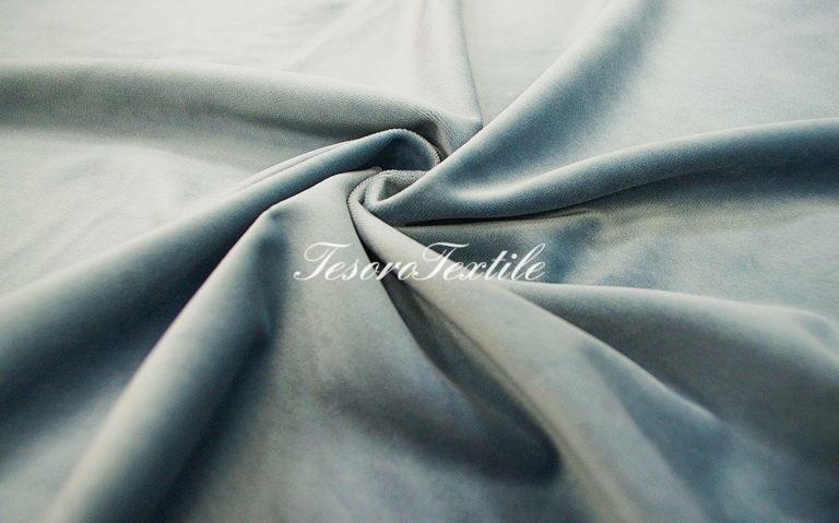 Ткань для штор Бархат VELOURS цвет бледно-голубой