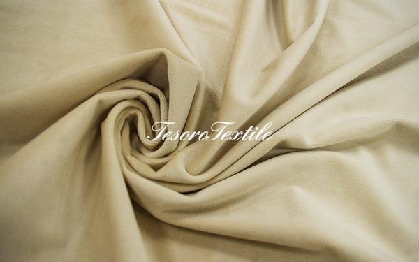 Ткань для штор Бархат VELOURS цвет топленое молоко