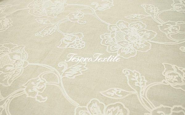 Ткань для штор Вуаль ASTON цвет молочный