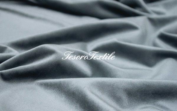 Ткань для штор Бархат CASA DEL VELO цвет темно-серый