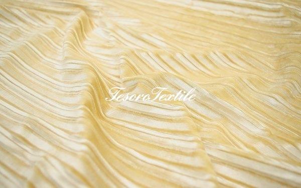 Ткань для штор Бархат-гофре SCANDINA цвет карамельный
