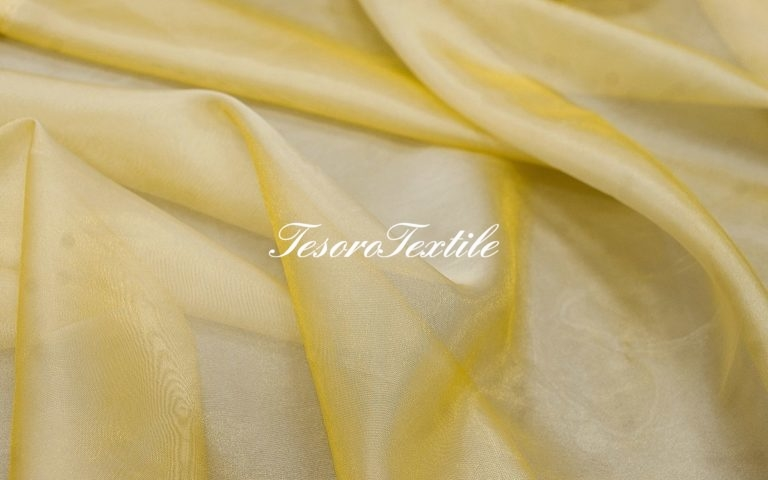 Ткань для штор Микровуаль CASA DEL VELO цвет желтый