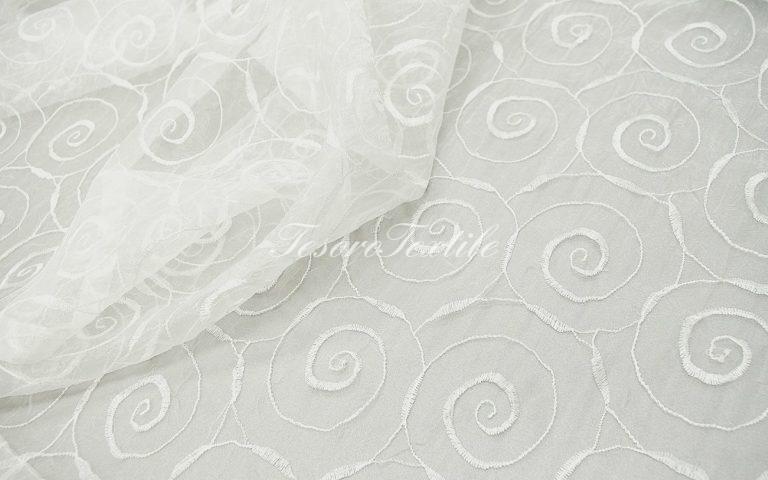 Ткань для штор Органза CASA DEL VELO цвет белый