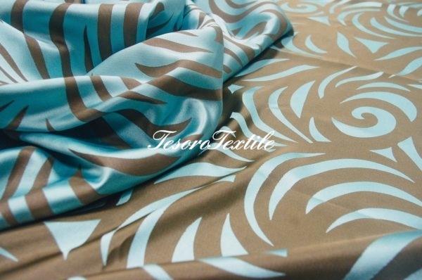 Портьерная ткань ILLUSTRE цвет голубой