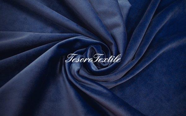 Ткань для штор Бархат VELOURS цвет васильковый