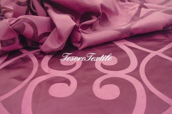 Портьерная ткань ILLUSTRE цвет лиловый с узором