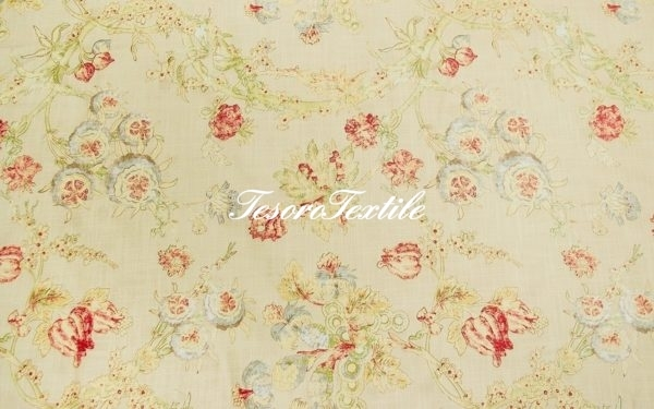 Портьерная ткань GELIN GARDEN цвет салатовый