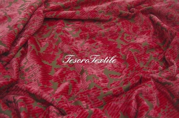 Ткань для штор Пан-бархат ILLUSTRE цвет розовый