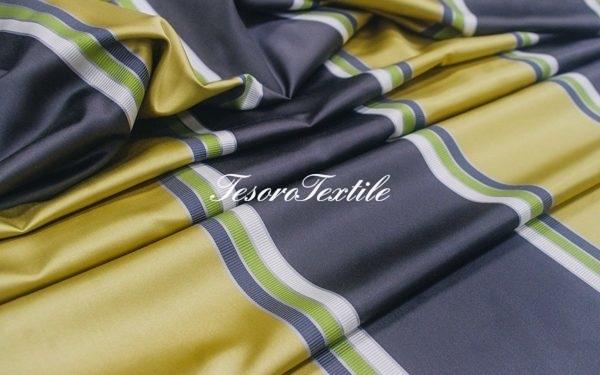 Портьерная ткань ILLUSTRE цвет оливковая