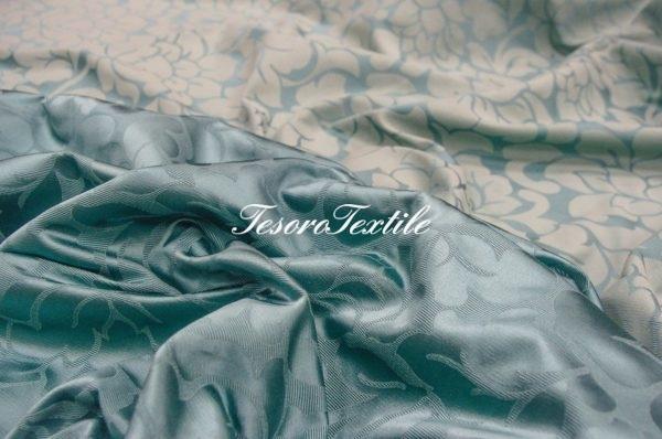 Портьерная ткань ILLUSTRE цвет бирюза
