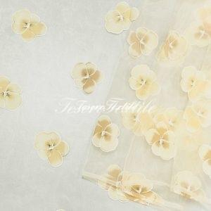 Ткань для штор Органза CASA DEL VELO цвет желтый