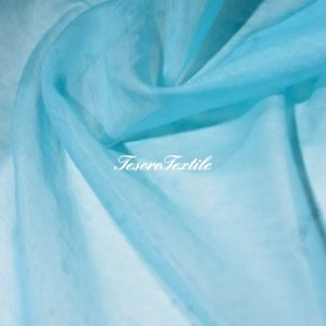 Ткань для штор Вуаль ASTON цвет аквамарин