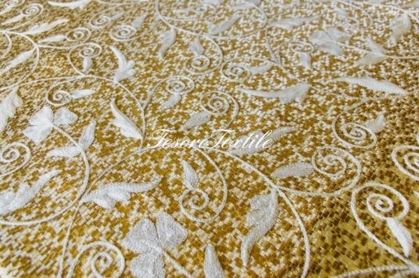 Портьерная ткань CASA DEL VELO цвет золото
