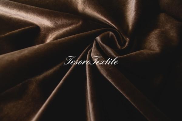 Ткань для штор Бархат CASA DEL VELO цвет темно-коричневый